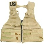 New or Used G.I. 3-Color Desert Fighting Load Carrier (FLC) MOLLE II Vest