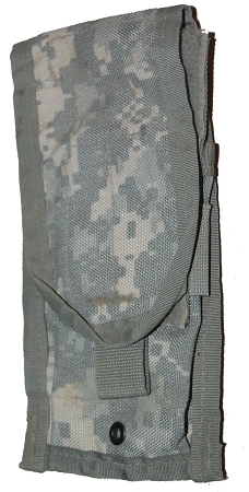 Used Government Issue ACU MOLLE M4 Double Mag Side-by-side ammo pouch