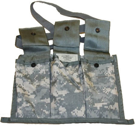 New Genuine Military Issue: ACU Molle II 6 Mag Bandoleer Ammunition Pouch, w/strap,