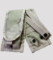 Used Government Issue Desert M4 MOLLE II Double Mag Pouch