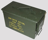 Used Govrnment Issue 50 Cal Metal Ammo Box