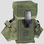 Used Government Issue M-16 OD Nylon Ammo/ Small Arms Pouch