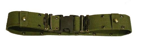 Used Government Issue LC-2 Nylon Pistol Belt with Black Quick Release Buckle