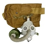 New (Old Stock) Gray Youth Russian Gas Mask (Costume) [Mask, Bag, Swiss Style Filter]