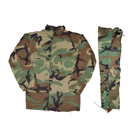 New Government Issue Woodland Camo Chemical Suits