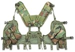 Used Government Issue Woodland Tactical Load Bearing Vest