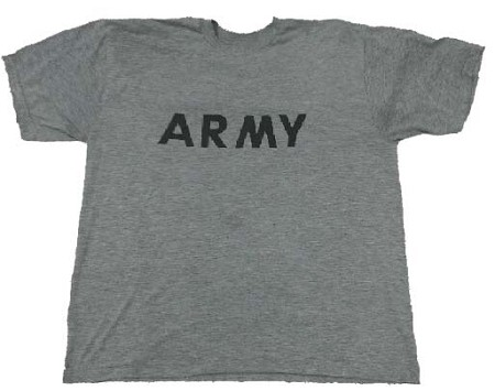 Used US Army Gray T-Shirt Long & Short Sleeve