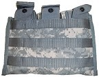 New and Used Government Issue ACU MOLLE 3 Mag M4 / M16 Side by Side Bandoleer Pouch