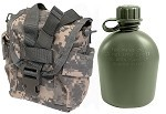 New 1 Quart Olive Drab Canteen with Used ACU Canteen/General Purpose Pouch