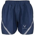 New US Air Force Blue Nylon Jogging Shorts