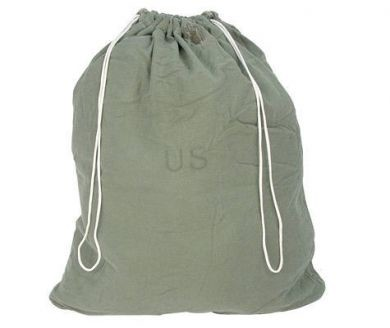 Used Government Issue Olive Drab Cotton Laundry Bag