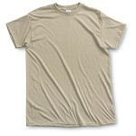 Used Army Tan Moisture Wicking T-Shirts