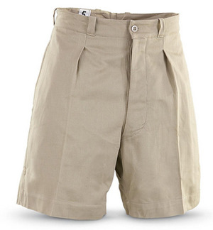 "Used  6"" Inseam French Khaki Foreign Legion Shorts"