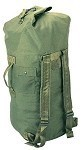 Used Government Olive Drab Cordura 2 Strap Duffle Bag