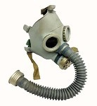 New (Old Stock) Gray Youth Russian Gas Mask (Costume) [Mask & Bag]