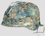Used German Military Flecktarn Helmet Cover