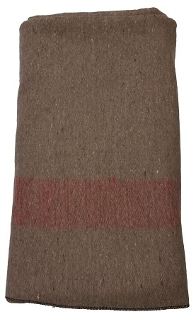 New Swiss Army Type Tan Wool Blanket