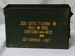 Used Government Issue 30 Cal Metal  Ammo Box**WITHOUT LID**