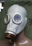 New Grey Adult  Russian Gas Mask (Costume)
